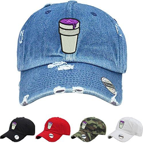 Allntrends Adult Dad Hat Codeine Cap Cool Vintage Dad Hat Embroidered (Red)