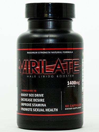 Virilate | Male Enhancement Pills | Sex Drive Enhancer for Men | Boosters and Enhancers for Libido