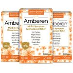 Amberen – Menopause Relief Supplement for Hot Flashes, Irritability, Sleeplessness, Low Libido, Joint & Muscle Pain and Other Symptoms of Menopause (3-months course)