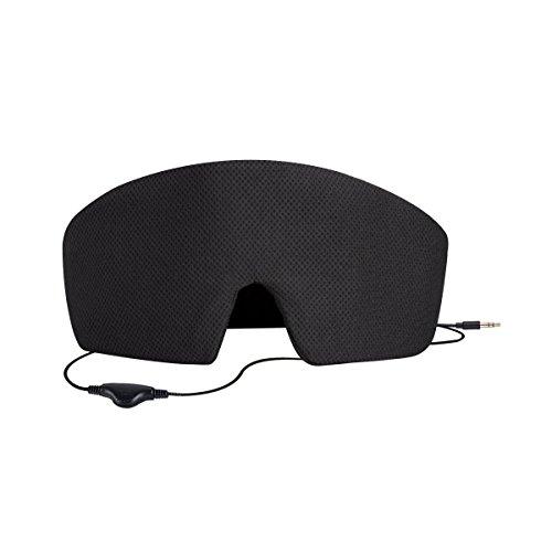 AGPTEK Ultra Soft Wired Sleep Headphones Comfortable Eye Mask Built-in HD Audio Speaker, Perfect for Insomnia Treatment, Bedtime, Travel & Meditation, Black