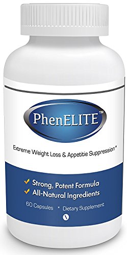 PhenELITE - HIGHEST Rated Strongest Grade Weight Loss Diet Pills - Fast Weight Loss, Hyper-Metabolising Fat Burner and Appetite Suppressor
