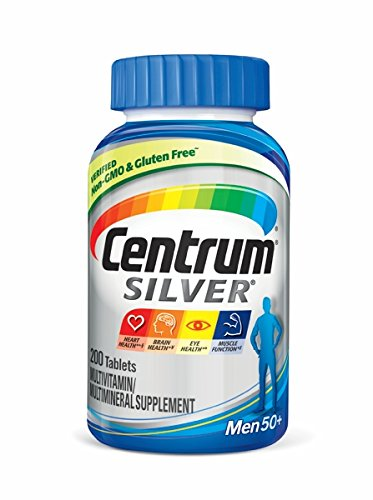 Centrum Silver Men (200 Count) Multivitamin / Multimineral Supplement Tablet, Vitamin D3, Age 50 and Older
