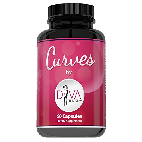 Curves Butt Enhancement Pills for Women by Diva Fit & Sexy - Fast and Effective Enlargement Product That Works - 60 Capsules