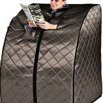 Sauna Portable Infrared FAR Carbon Fiber Panels – Wired Remote Control – Max Heat 140 Degrees – Heated Foot Pad – Rejuvenator Improved Model SA6310-1A