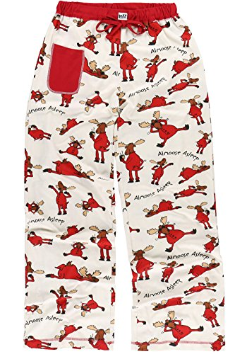 LazyOne Women's Fitted Pajama Sets | Animal Fitted Pajamas for Women + XS - XL (Small, Almoose Asleep Pants)