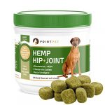 PointPet Advanced Hip and Joint Supplement for Dogs with Organic Hemp Seeds and Oil, Best Glucosamine Chondroitin, MSM, Omega 3-6, Improves Mobility, Reduces Pain and Inflammation, 90 Soft Chews