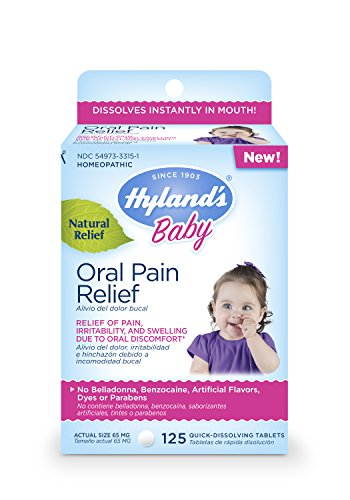 Hyland's Baby Oral Pain Relief Tablets, 125 Count