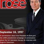 Charlie Rose with Roy Neel, Ed Rollins & Joe Klein; Steven Reddicliffe, Rick Martin & Ken Tucker; Eugenia Zukerman (September 16, 1997)