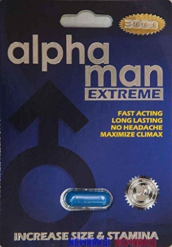 6 Packs Alpha Man Extreme 3000 Male Sexual Enhancement 7 Days by Alpha Industries