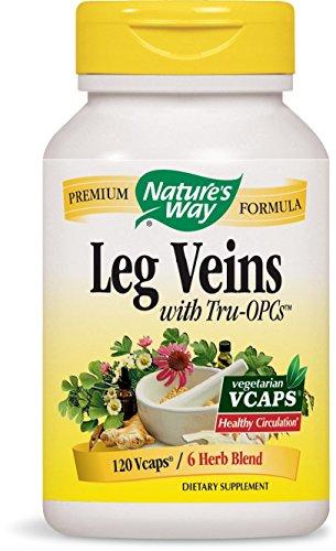 Nature's Way Leg Veins Support Blend; with Tru-OPCS; Vegetarian; 120 Vegetarian Capsules