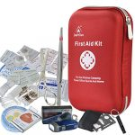 First Aid Kit – 163 Piece Waterproof Portable Essential Injuries & Red Cross Medical Emergency equipment kits : For Car Kitchen Camping Travel Office Sports And Home