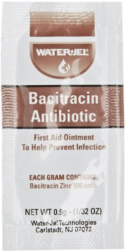 Waterjel 2534 Bacitracin Antibiotic Zinc First Aid Ointment, 9gm Packet (Box of 144)