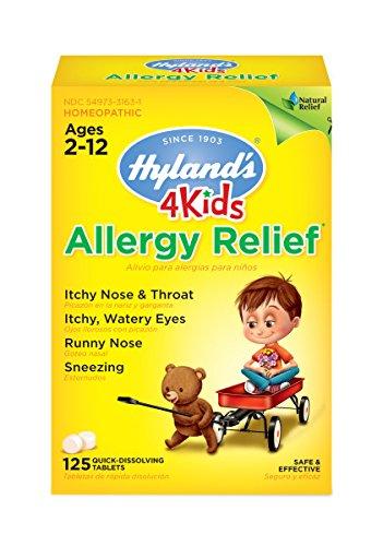 Hyland's 4 Kids Allergy Relief Tablets, Natural Relief of Indoor & Outdoor Allergies, 125 Count