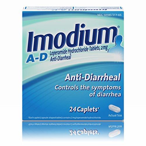 Imodium A-D Diarrhea Relief Caplets, 24 count, 2 mg
