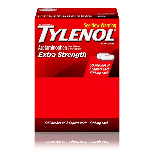 Tylenol Extra Strength Caplets, Fever Reducer and Pain Reliever, 500 mg, 100 ct