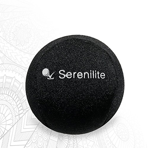 Serenilite Hand Therapy Stress Ball - Optimal Stress Relief - Great for Hand Exercises and Strengthening - FREE PDF Therapeutic Coloring Book - Jet Black