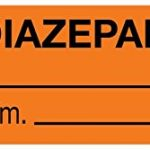 MedValue Anesthesia Tape, Diazepam mg/mL, 1-1/2″ x 1/2″, Orange – 500 Inches Per Roll