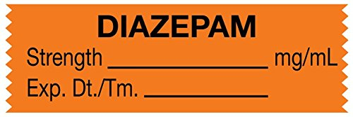 MedValue Anesthesia Tape, Diazepam mg/mL, 1-1/2