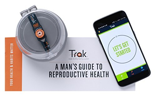 At Home Male Fertility Testing System by Trak, 4 Sperm Count Tests Included (FSA/HSA Eligible) Fast & Easy to Use, Accurate as Lab Tests, Maximize Your Chances of Getting Pregnant