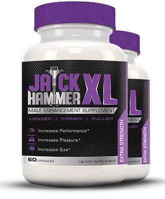 Jackhammer XL Male Enhancing Pills - Last Longer, Size Gain, Erection Quality | With Horny Goat Weed to Boost Testosterone Levels | Our Best Selling Enhancement Supplement