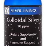 Silver Linings Colloidal Silver Hydrosol, 10 PPM, A Powerful Natural Antibiotic, and Preventative Measure Against Infection, Immune Support, Safe for Adults, Kids, Pets, and Plants, 16 oz