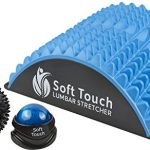 SoftTouch Back Pain Relief | Sciatica Pain Relief | Spinal Stenosis Pain Relief | Extra Firm Lower Back Stretcher | Neck Pain. BONUS! Two Massage Balls Included for back pain! (Blue, EVA Foam)