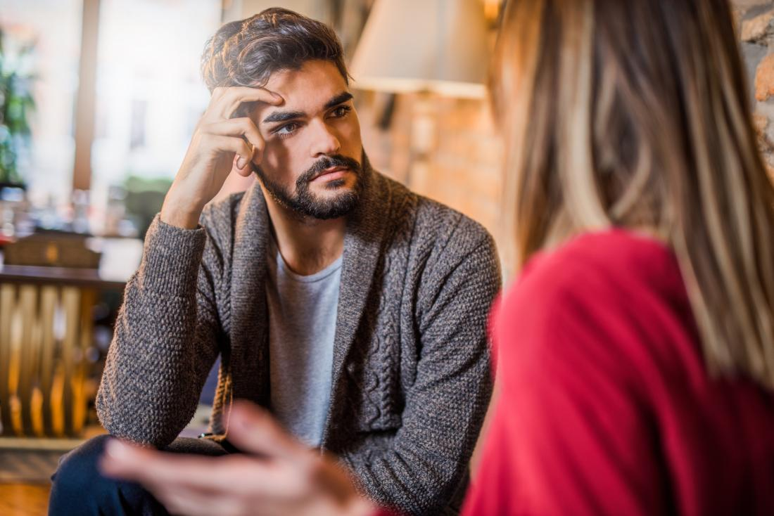 Depressed man seeking help