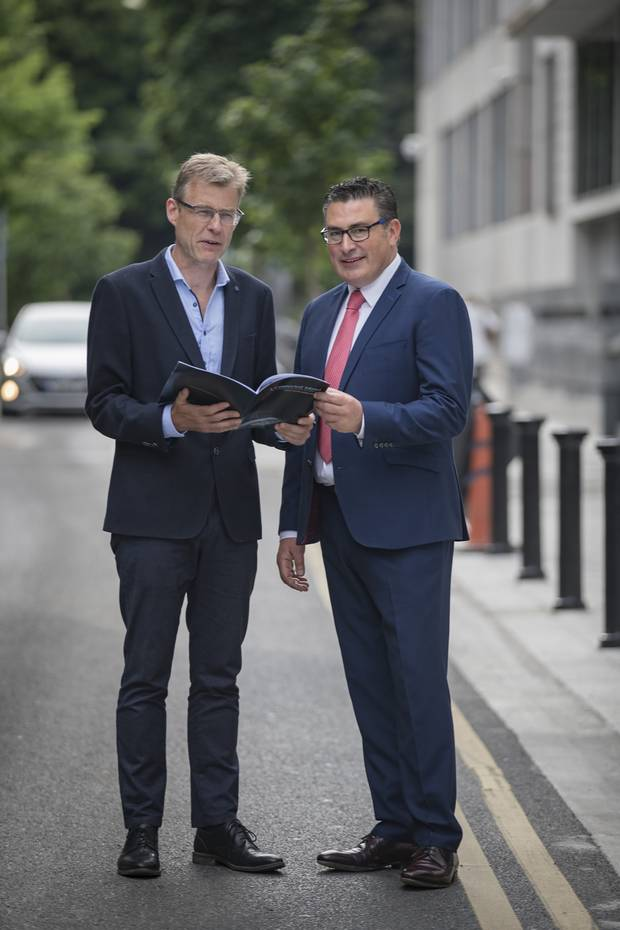 Sean Moynihan (left), CEO Alone and Dr Keith Swanick. Photo: Arthur Carron
