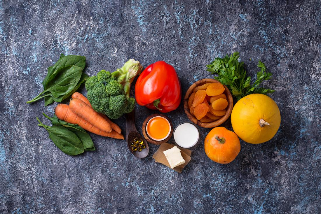 fruit and vegetables containing vitamin A