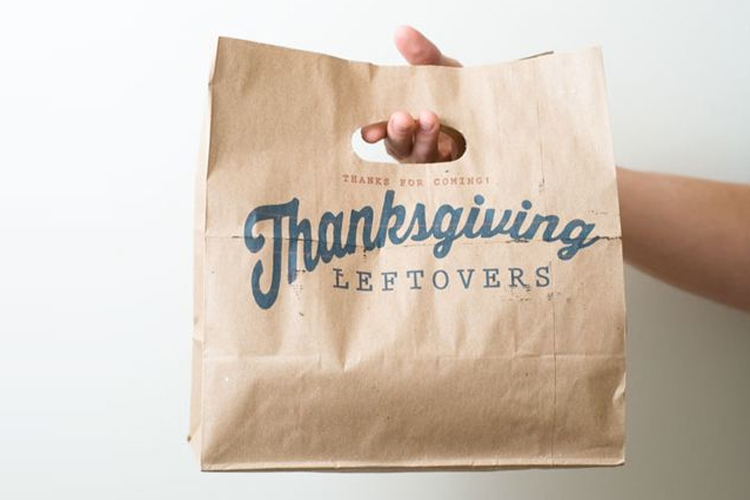 thanksgiving, thanksgiving leftovers, doggy bag, take away food, food waste