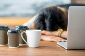 manage anxiety through menopause limit caffeing consumption